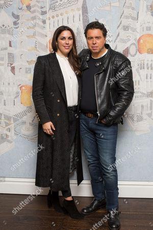 Stock Image of Sacha Gervasi & Jessica de Rothschild