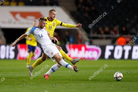 Editorial image of Sweden vs Slovakia, Stockholm - 16 Oct 2018