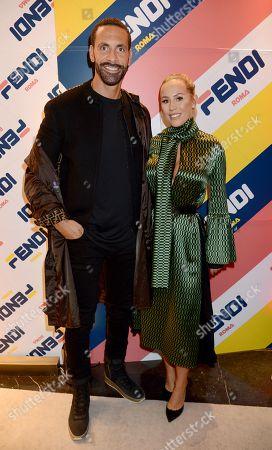 Rio Ferdinand and Katie Wright