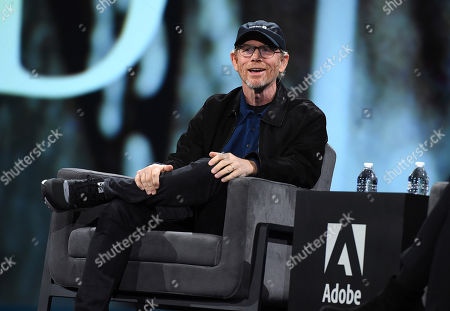 Stock Picture of Ron Howard shares a story of directing Bette Davis during Adobe MAX on in Los Angeles