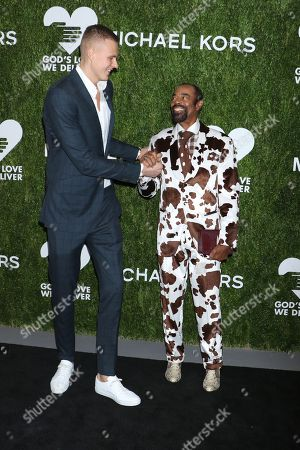 Stock Image of Kristaps Porzingis and Walt Frazier