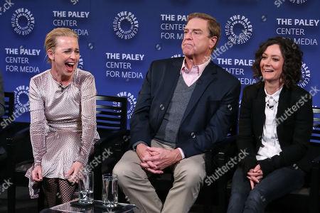 Alicia Goranson, John Goodman and Sara Gilbert