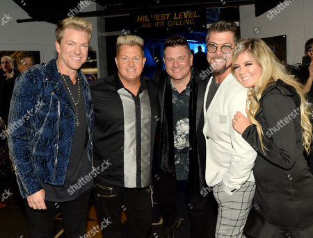 Singer/Songwriters Joe Don Rooney, Gary LeVox and Jay DeMarcus of Rascal Flatts with Singer/Songwriters Jason Crabb and daughterAshleigh Taylor