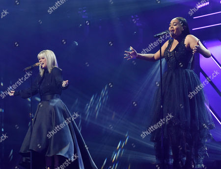 Stock Photo of Singer/Songwriters Natalie Grant and Koryn Hawthom