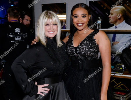 Stock Image of Singer/Songwriters Natalie Grant and Koryn Hawthom