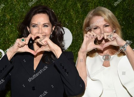 Lynda Carter, Blaine Trump. Actress Lynda Carter, left, and Blaine Trump attend the God's Love We Deliver Golden Heart Awards at Spring Studios, in New York