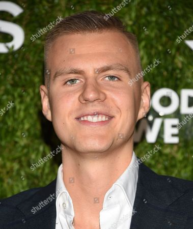 Basketball player Kristaps Porzingis attends the God's Love We Deliver Golden Heart Awards at Spring Studios, in New York