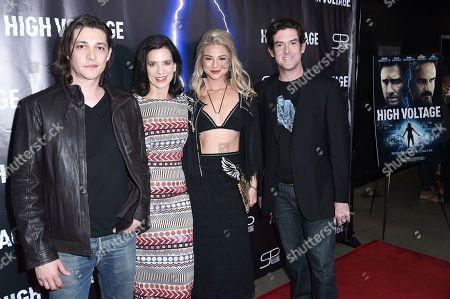 "Ryan Donowho, Perrey Reeves, Allie Gonino, Alex Keledjian. Ryan Donowho, from left, Perrey Reeves, Allie Gonino and Alex Keledjian attend the LA premiere of "" High Voltage "", in Los Angeles"