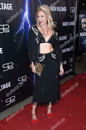 """Editorial picture of LA Premiere of """"High Voltage"""", Los Angeles, USA - 16 Oct 2018"""