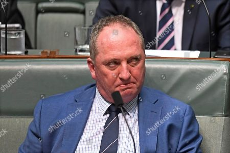 Drought envoy Barnaby Joyce reacts during House of Representatives Question Time at Parliament House in Canberra, Australian Capital Territory, Australia, 17 October 2018.