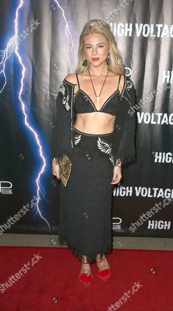 Editorial photo of 'High Voltage' film premiere, Los Angeles, USA - 16 Oct 2018