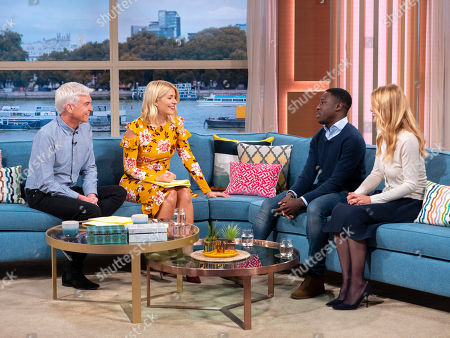 Phillip Schofield and Holly Willoughby with Reggie Zippy Nelson and Elizabeth Price