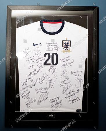 Rickie Lambert. Footballer Rickie Lambert's Signed England Shirt Interview With Matt Lawton.
