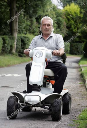 Editorial photo of Peter Bright, convicted of drink driving while using his mobility scooter along the A140 at Long Stratton, Norfolk, Britain - Aug 2009