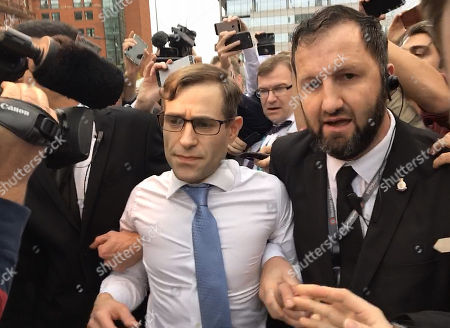 Comedian Lee Nelson Is Lead Away From The Conference Centre By Security Staff After His Prank On The Pm. - Conservative Party Conference At Manchester Central Convention Centre Greater Manchester.