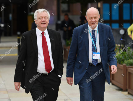 David Davis And Damien Green MP. Conservative Party Conference At Manchester Central Convention Centre Greater Manchester. 4/10/17.