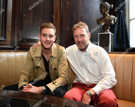 Stuart Broad. cricket Feature London For The Mail On Sunday. Stuart Broad And His Dad Chris Broad.