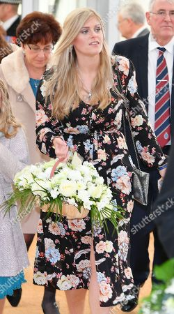 Stock Picture of Jennifer Phillips .  - 12/10/17 Wife Jennifer Phillips Arrives With Daughters Abigail (l) And Sophie (r). - A Memorial To Murdered PC David Phillips Of Merseyside Police Is Unveiled At Hamilton Square Gardens Birkenhead Merseyside.