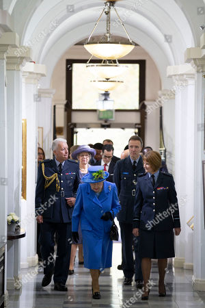 Editorial photo of Queen Elizabeth II visits the Royal Air Force Club, London, UK - 17 Oct 2018