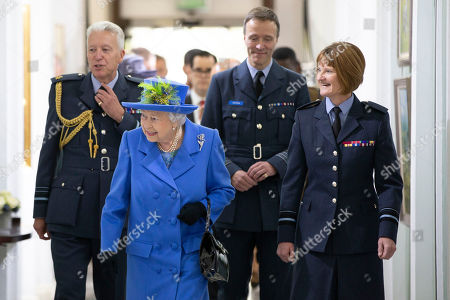 Editorial picture of Queen Elizabeth II visits the Royal Air Force Club, London, UK - 17 Oct 2018