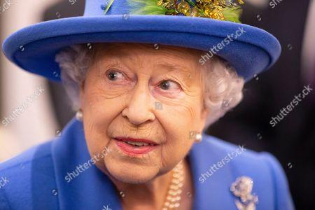 Queen Elizabeth II visits the Royal Air Force Club, London