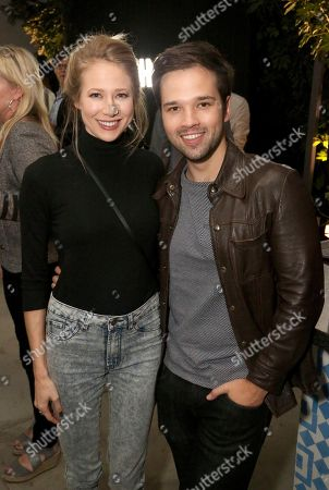London Kress, Nathan Kress. London Kress, left, and Nathan Kress at the Microsoft Surface Anything But Ordinary event at The Microsoft Lounge, in Culver City, Calif