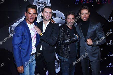 Stock Image of (L-R) Cristian de la Fuente, Richard Orlinski, Martin Fuentes, Sebastian Rulli