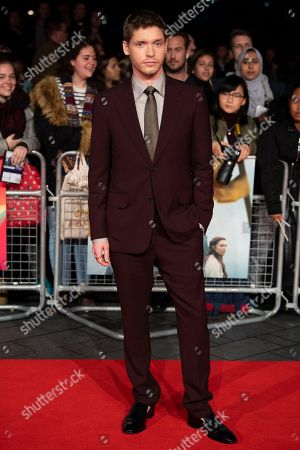 British actor/cast member Billy Howle arrives for the premiere of 'Outlaw King' at the BFI London Film Festival 2018, in London, Britain, 17 October 2018. The festival runs from the 10 to 21 October.