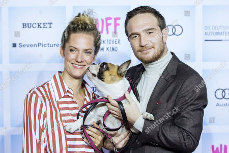 German actress Marie Burchard (L) and German actor Frederick Lau arrive for the German film premiere of 'Wuff' at the Zoo palast cinema in Berlin, Germany, 17 October 2018. The movie by German director Detlev Buck opens in German cinemas on 25 October 2018.