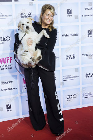 German film producer Andrea Willson arrives for the German film premiere of 'Wuff' at the Zoo palast cinema in Berlin, Germany, 17 October 2018. The movie by German director Detlev Buck opens in German cinemas on 25 October 2018.