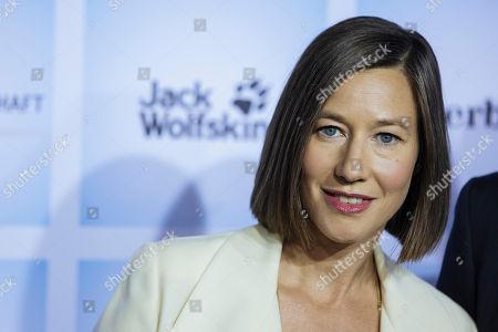 German actress Johanna Wokalek arrives for the German film premiere of 'Wuff' at the Zoo palast cinema in Berlin, Germany, 17 October 2018. The movie by German director Detlev Buck opens in German cinemas on 25 October 2018.