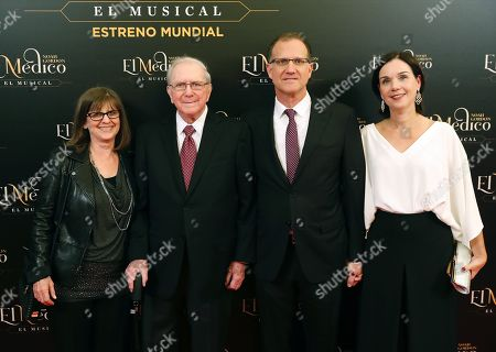 Stock Picture of US writer Noah Gordon (2-L) poses with members of his family as he attends the world premiere of the musical 'The Physician' at the New Apolo Theater in Madrid, Spain, 17 October 2018. The musical is based on the novel of the same title by US writer Noah Gordon.