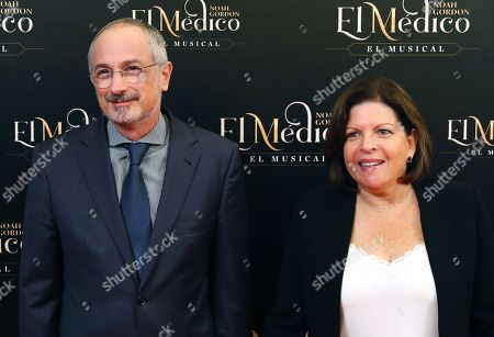 Israel's Ambassador to Spain Daniel Kutner (L) and his wife attend the world premiere of the musical 'The Physician' at the New Apolo Theater in Madrid, Spain, 17 October 2018. The musical is based on the novel of the same title by US writer Noah Gordon.