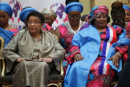 Former Liberian President, Ellen Johnson Sirleaf (L),and Former president of Malawi, Joyce Banda (R) attend the official opening of the International Sheroes Forum 2018 at the Monrovia City Hall, Monrovia, Liberia, 17 October 2018. The International Sheroes Forum brings together leaders and personalities to discusses and bolster the influence of women on the African Continent and the World in general.
