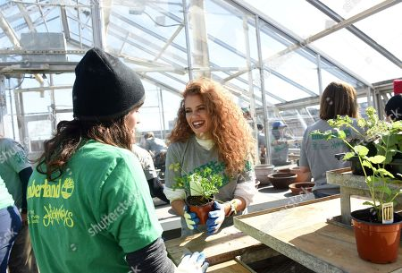 Editorial picture of Timberland Urban Greening Event, New York, USA - 17 Oct 2018