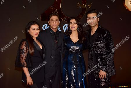 Actress Rani Mukerji, Shah Rukh Khan, Kajol and Karan Johar