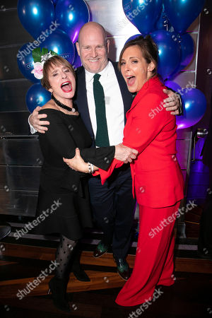 Patti Lupone (Joanne), Christopher Harper (Producer) and Mel Giedroyc (Sarah)