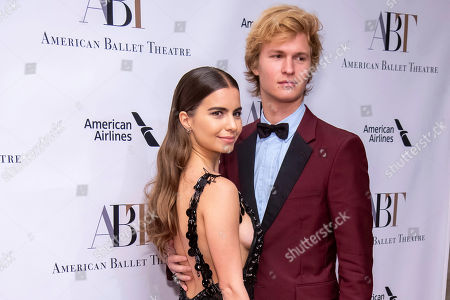 Ansel Elgort, Violetta Komyshan. Violetta Komyshan and Ansel Elgort attend the American Ballet Theatre's 2018 Fall Gala at the David H. Koch Theater, in New York