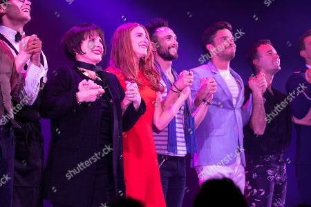 Patti LuPone (Joanne), Rosalie Craig (Bobbie), George Blagden (PJ) and Jonathan Bailey (Jamie) during the curtain call