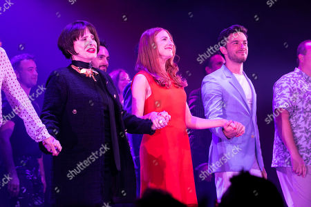 Patti LuPone (Joanne), Rosalie Craig (Bobbie) and Jonathan Bailey (Jamie) during the curtain call