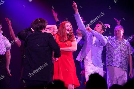 Rosalie Craig (Bobbie) and Jonathan Bailey (Jamie) during the curtain call