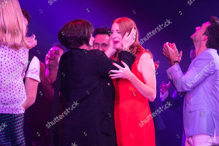 Patti LuPone (Joanne) and Rosalie Craig (Bobbie) during the curtain call
