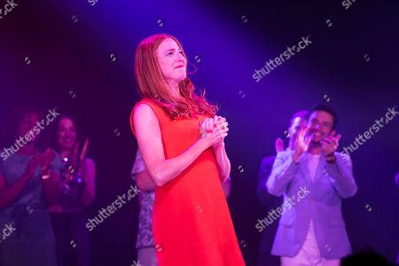Rosalie Craig (Bobbie) during the curtain call