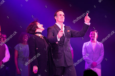 Patti LuPone (Joanne) and Ben Lewis (Larry) during the curtain call