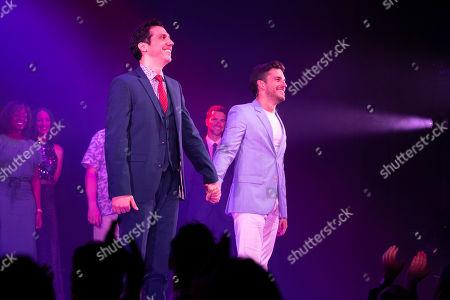 Stock Photo of Alex Gaumond (Paul) and Jonathan Bailey (Jamie) during the curtain call