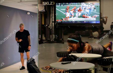 Editorial image of Breakfast Club Football, Carlsbad, USA - 08 Oct 2018