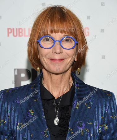 "Playwright Jane Anderson attends the opening night celebration of ""Mother of the Maid"" at The Public Theater, in New York"