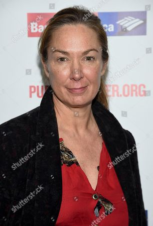 """Elizabeth Marvel attends the opening night celebration of """"Mother of the Maid"""" at The Public Theater, in New York"""