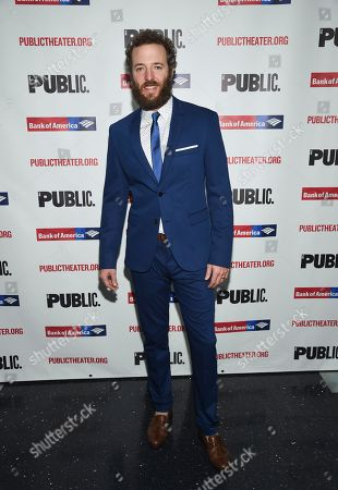 """Stock Image of Andrew Hovelson attends the opening night celebration of """"Mother of the Maid"""" at The Public Theater, in New York"""
