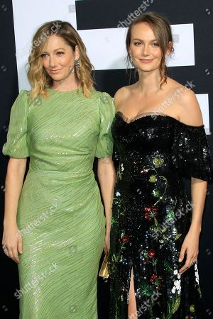 United States actresses Judy Greer (L) and Andi Matichak (R) arrive at the premiere of Halloween at the TCL Chinese Theatre IMAX in Los Angeles, California, USA, 17 October 2018. The film opens in the US 19 October 2018.